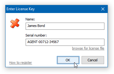 CloseAll - Enter License Key