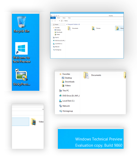 Sticky Previews - Windows 10