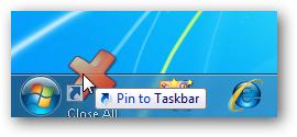 Close All - Pin to Taskbar