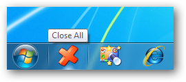 Close All - Windows 7 Taskbar