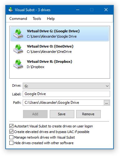 Visual Subst - Virtual Drives