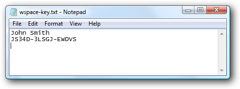Create the license file