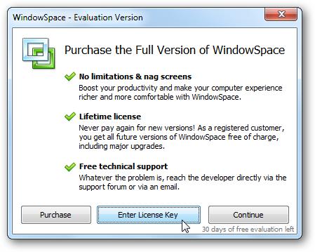 WindowSpace - Trial Reminder