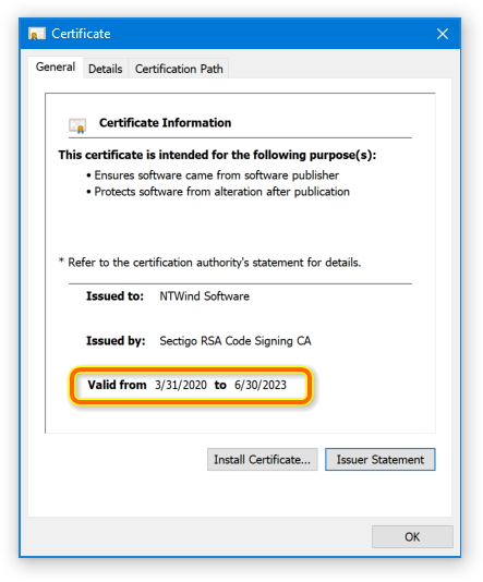 NTWind Software - New Signature