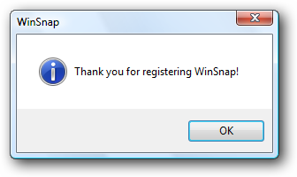 WinSnap is registered!