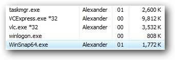 WinSnap on Windows Vista 64-Bit Edition