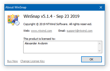 WinSnap - About
