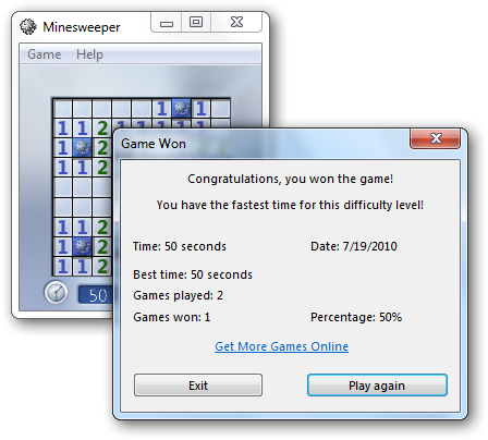 Minesweeper Screenshot with Transparency