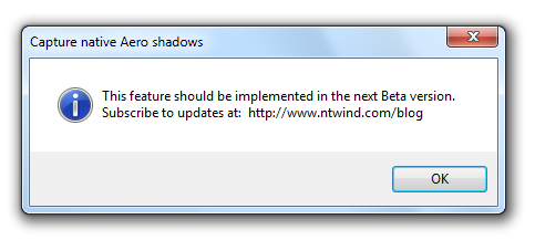 Message Box - Capture Native Shadows