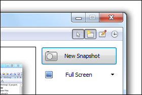WinSnap v3.5 - Options Toolbar