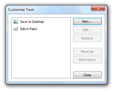 WinSnap - Customize Dialog