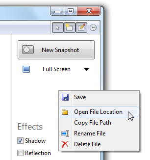 Advanced File Menu